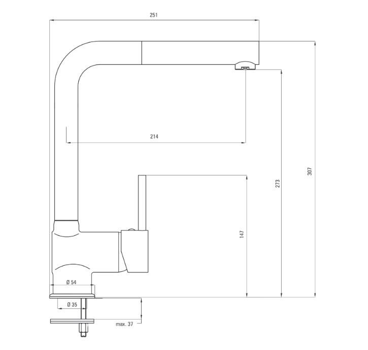 BCA B730 Ūdens maisītājs Deante Aster specifikācija