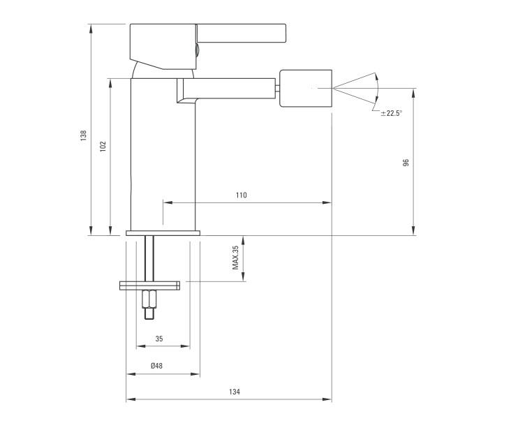 BCF 031M ūdens maisītājs Floks specifikācija