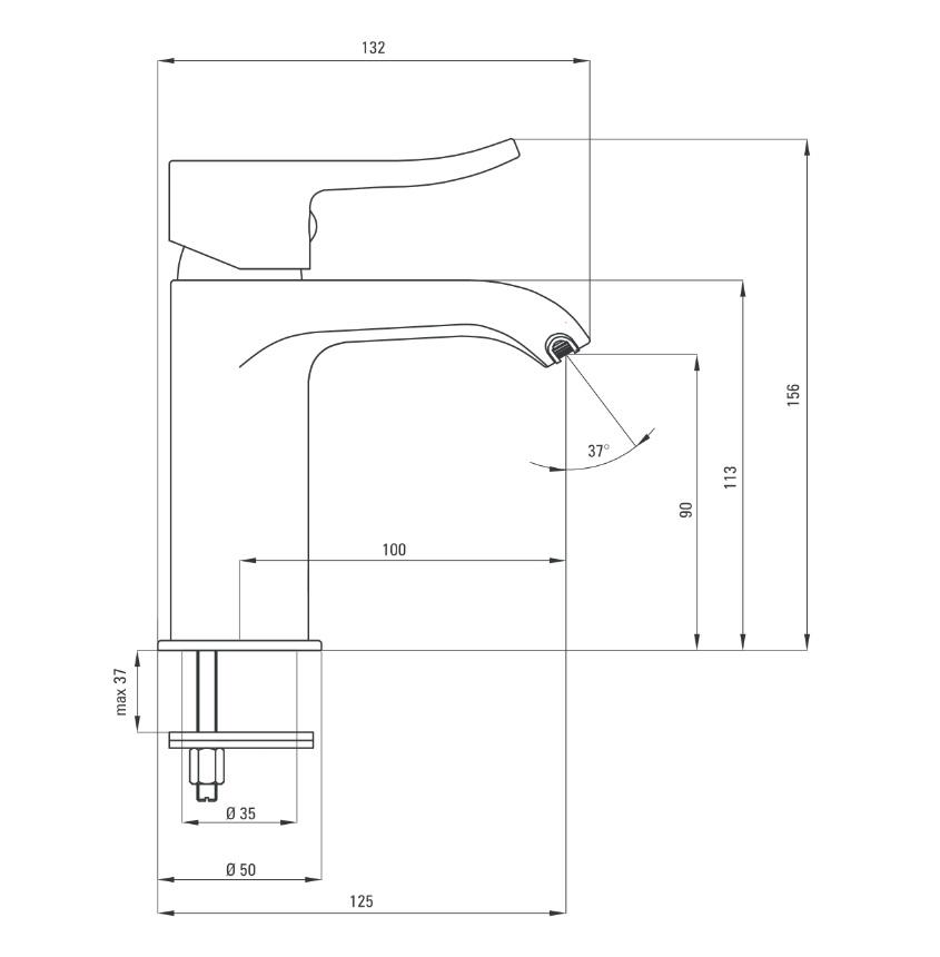 BCW 021M Ūdens maisītājs Deante Werbena specifikācija