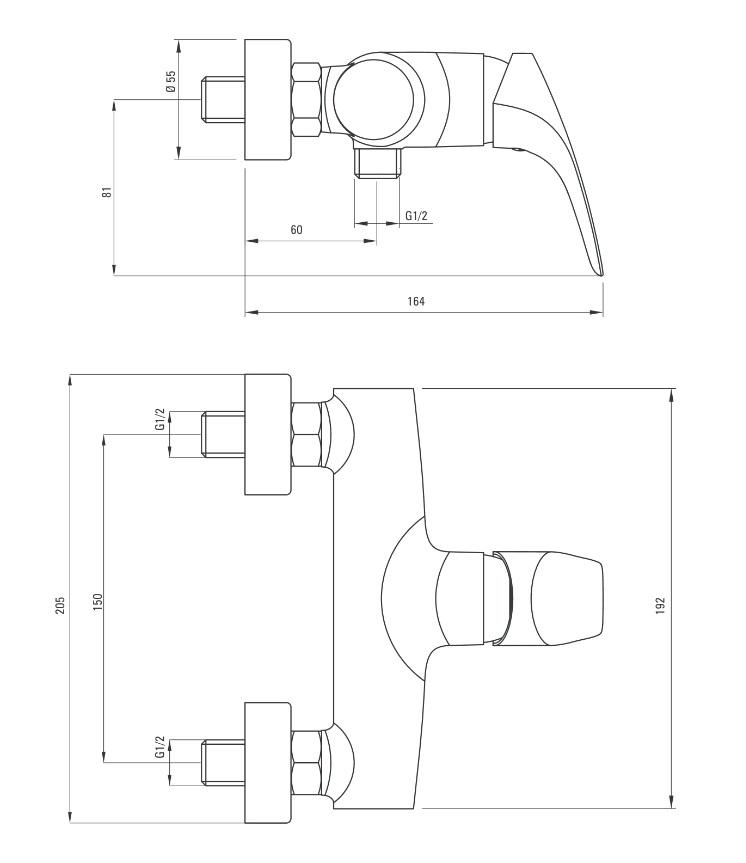 BCY 040M Ūdens maisītājs deante cynia specifikācija