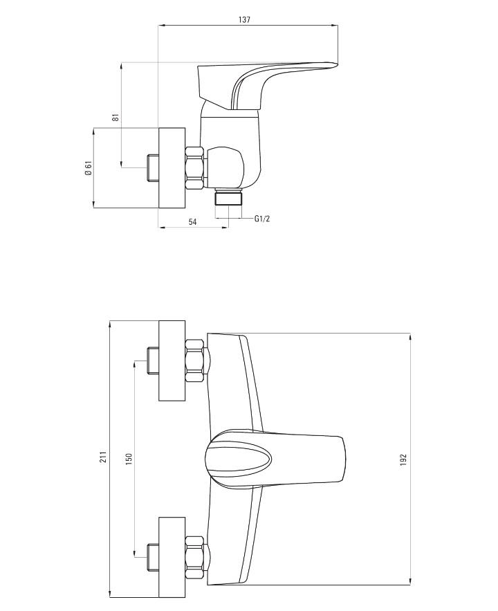 BEG 040M Ūdens maisītājs dušai Deante Gardenia specifikācija