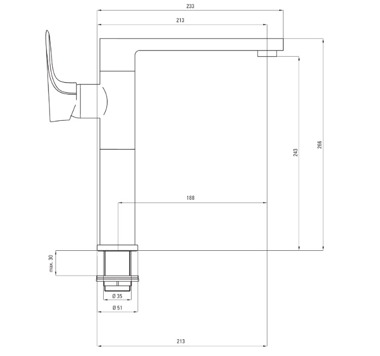 BEG_063M-udens-BEG 063M Ūdens maisītājs Deante Gardenia specifikācija
