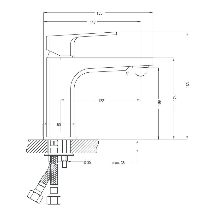 BGM 021M Ūdens maisītājs Deante Maruna specifikācija