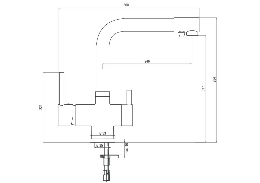 Ūdens maisītāja Deante Aster specifikācija