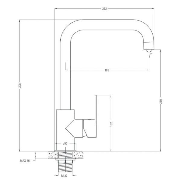 Deante alpinia ūdens maisītāja specifikācija