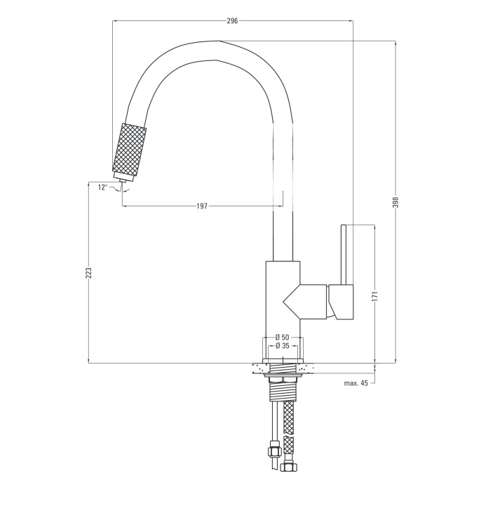BBCA B64M ūdens maisītājs Aster specifikācija