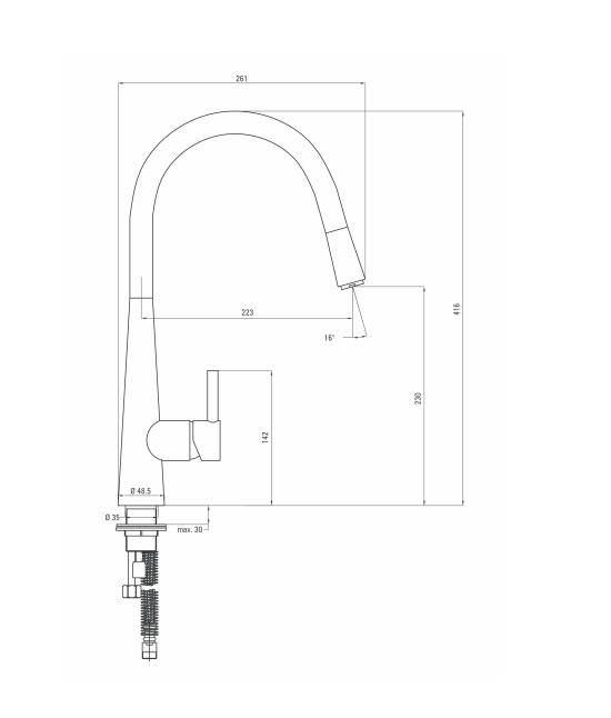 BCA 272M ūdens maisītājs Aster specifikācija