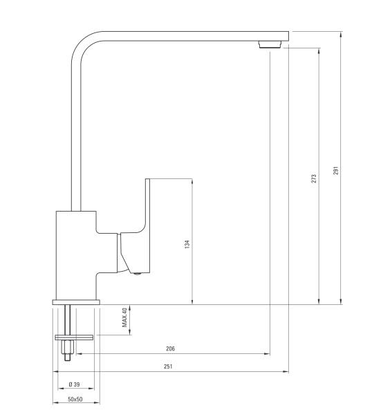 BCZ 2620 ūdens maisītājs Anemon