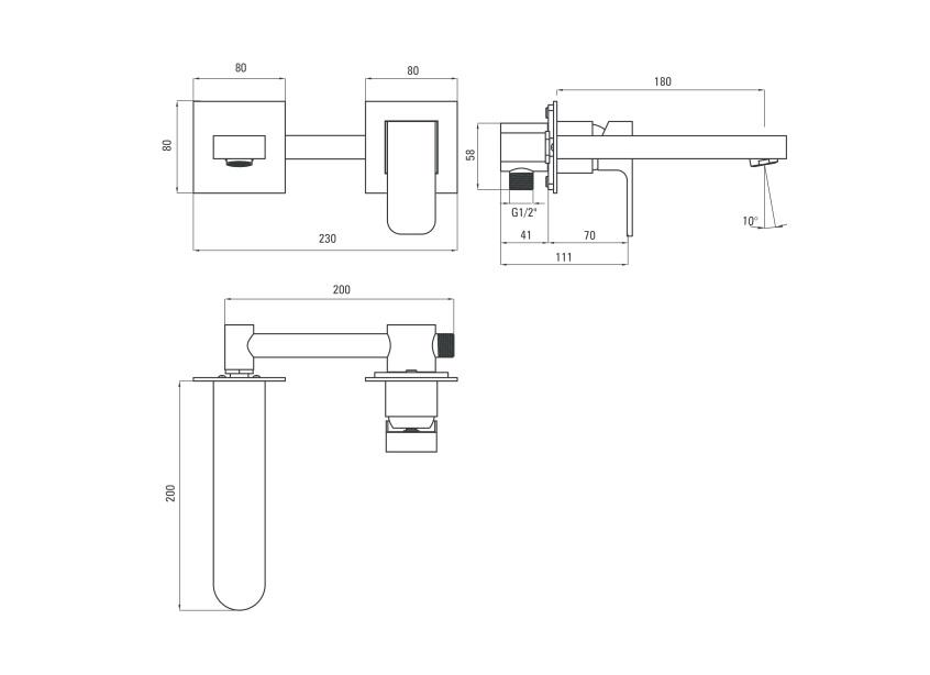 BDA 054L ūdens maisītājs Azalia specifikācija