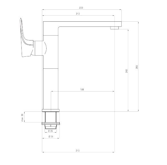BEG B630 ūdens maisītājs Gardenia specifikācija