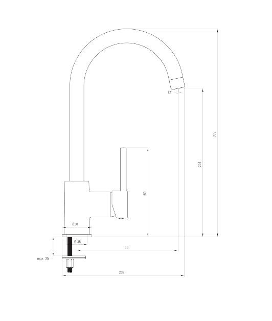 BEU R62M ūdens maisītājs Milin specifikācija