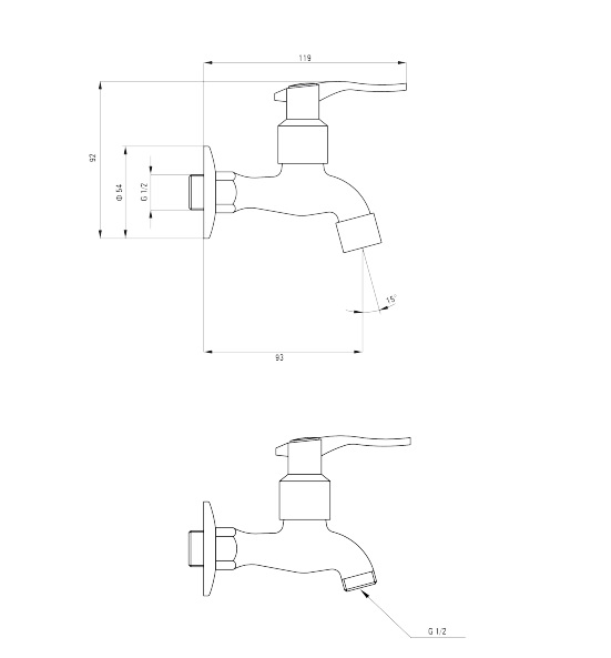 BEZ 122L ūdens maisītājs Deante specifikācija