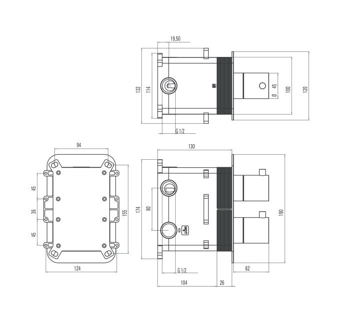 BBXX 0EBT ūdens maisītājs Box specifikācija