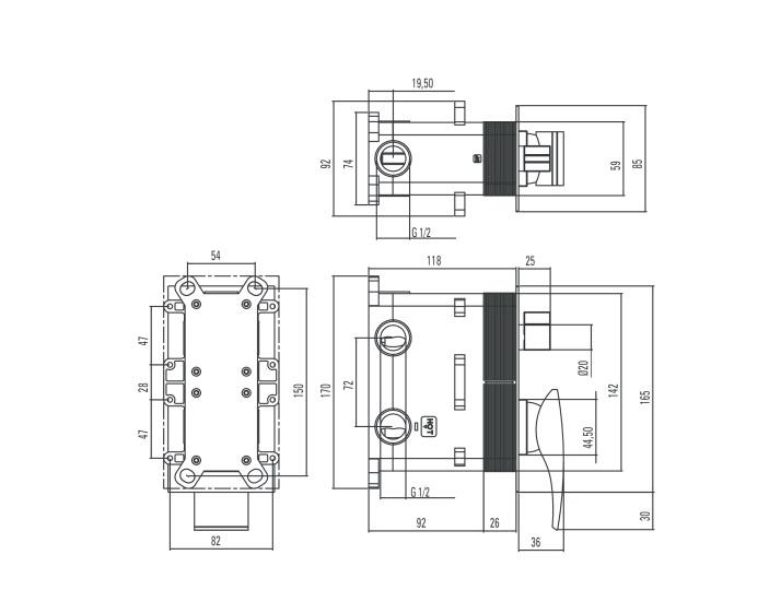 BXX 0QMM ūdens maisītājs Minimal specifikācija