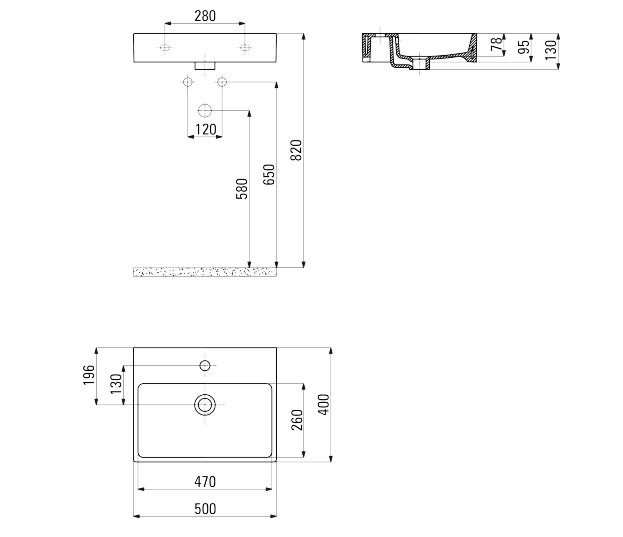 CDT 6U4S Izlietne Temisto specifikācija