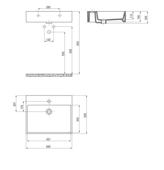 CDT 6U6S Izlietne Temisto specifikācija