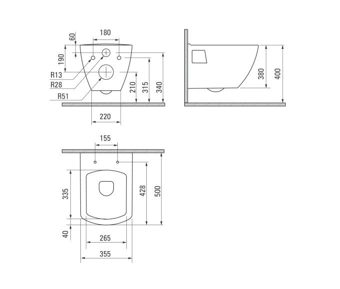 CDZ 6WPW Tualetes pods Anemon specifikācija