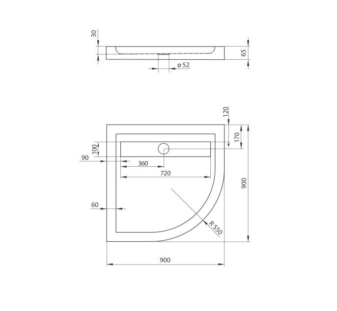 KTM 051B dušas paliknis Minimal specifikācija