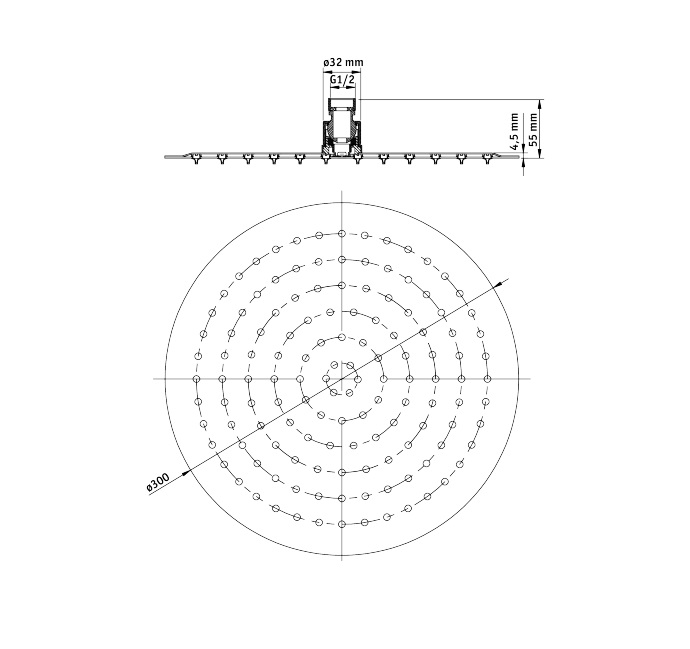 NAC 003K Dušas galva Floks specifikācija