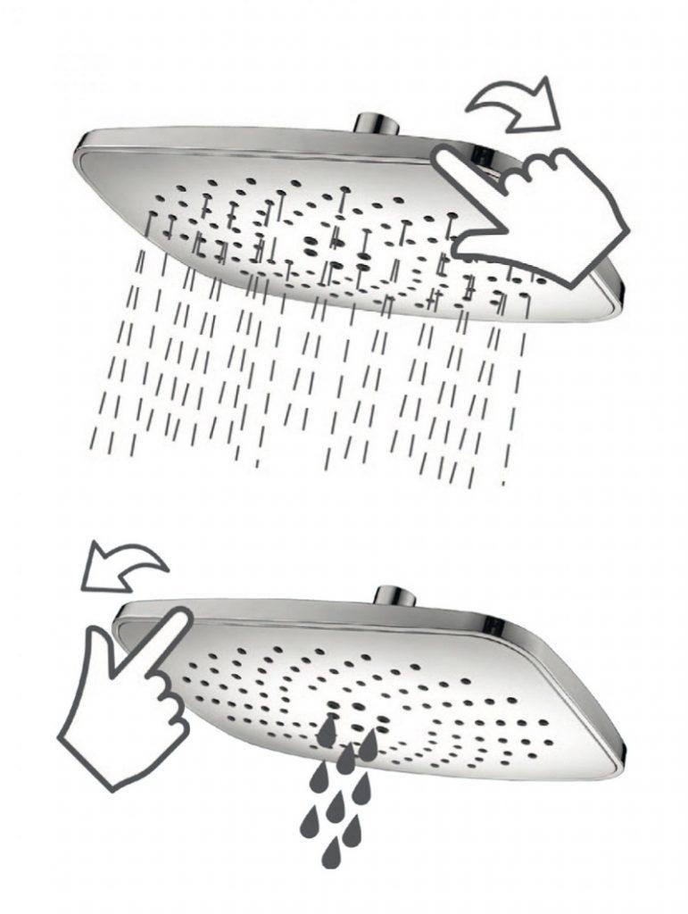 NAC 03PK dušas galva Peonia 1
