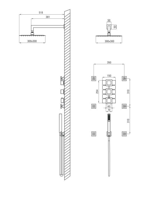 NAC 090T ūdens maisītājs Multi specifikācija