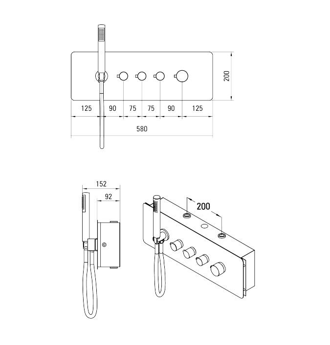 NAC 09CT ūdens maisītājs Multibox specifikācija