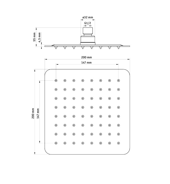 NAC 605K Dušas galva Floks specifikācija