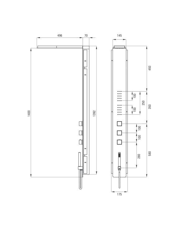 NOO 051T dušas komplekts Multibox specifikācija