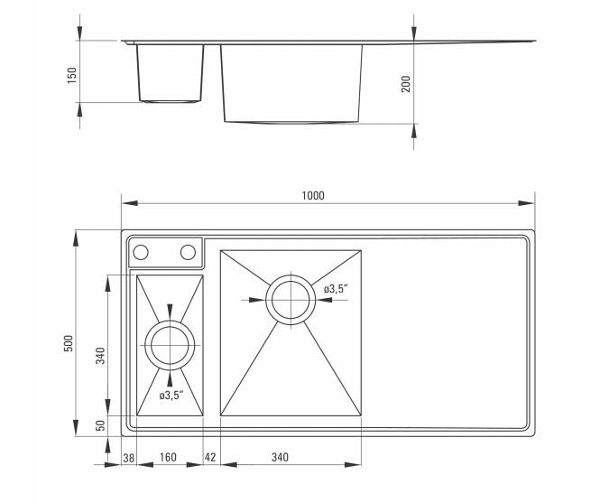 ZDS 051P izlietne Sinope specifikācija