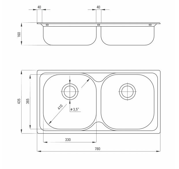 ZEX 0203 izlietne Xylo specifikācija