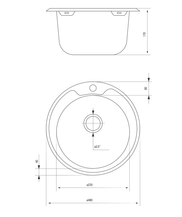 ZHC 0813 izlietne Cornetto specifikācija