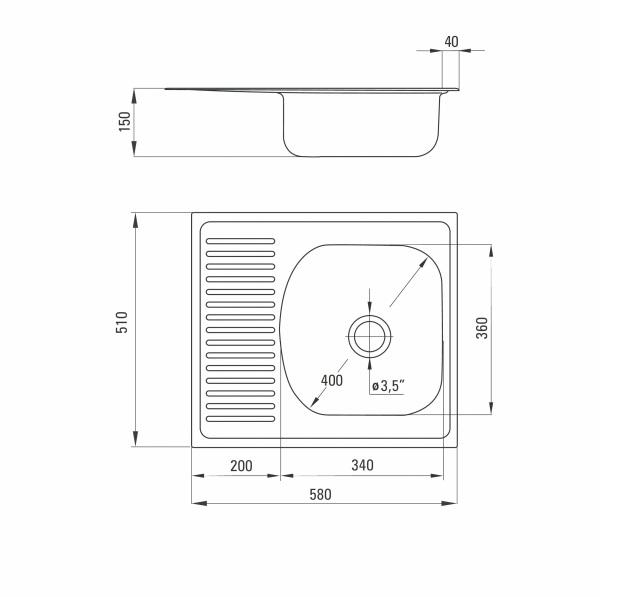 ZMU 0113 Izlietne Techno specifikācija