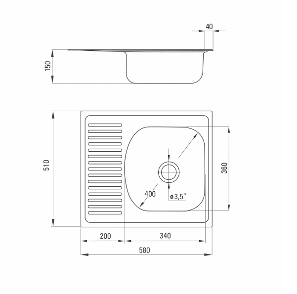 ZMU 3113 izlietne Techno specifikācija