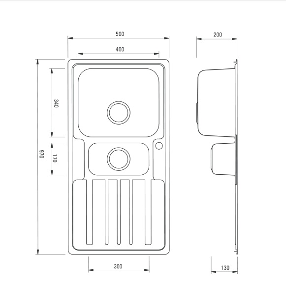 ZPV 0513 izlietne Virgo specifikācija