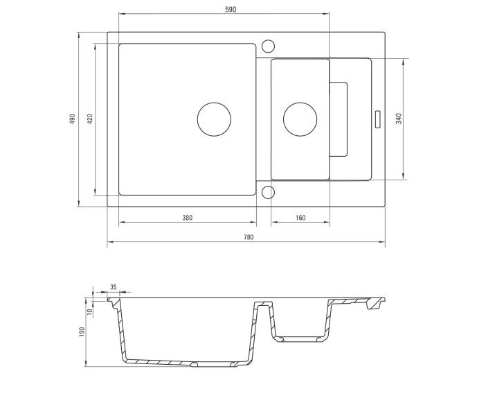 ZQK 7513 izlietne Rapido specifikācija