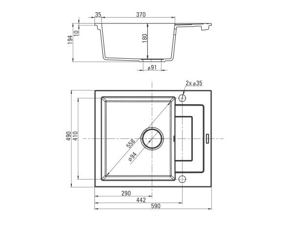 ZQK A11A izlietne Rapido specifikācija
