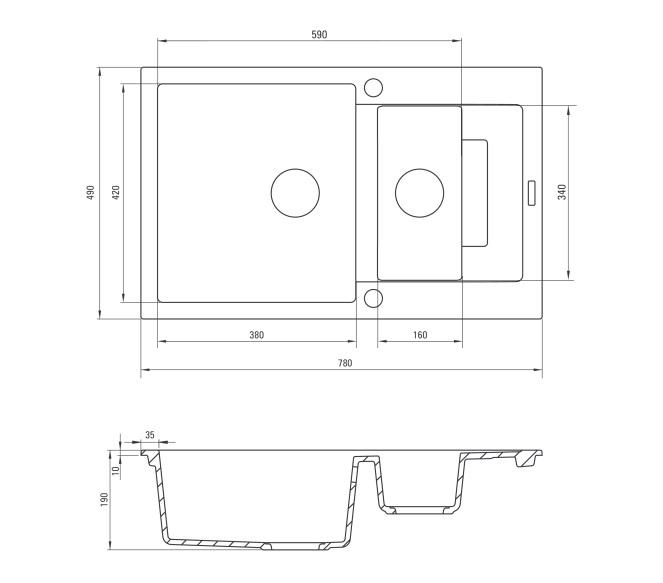 ZQK S513 Izlietne Rapido specifikācija
