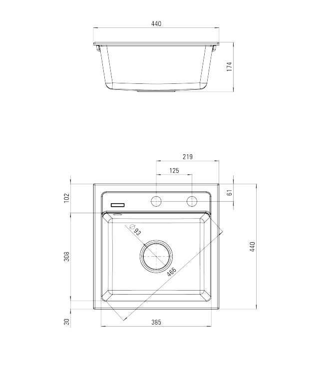 ZQZ 7103 izlietne Zorba specifikācija