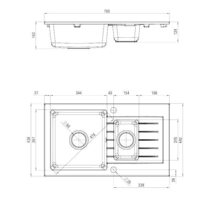 ZQZ A513 Izlietne Zorba specifikācija