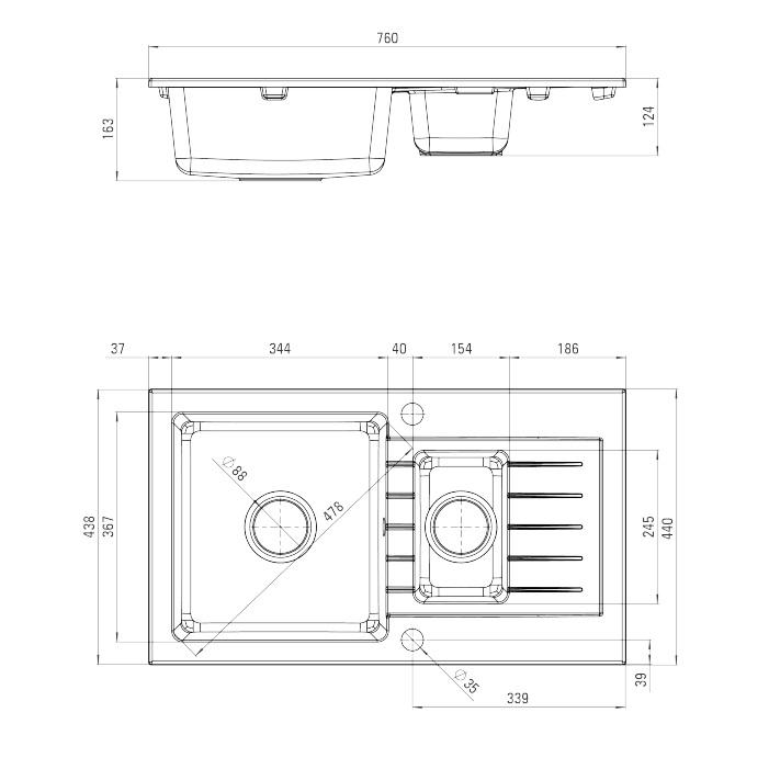 ZQZ S51ZQZ S513 Izlietne Zorba specifikācija