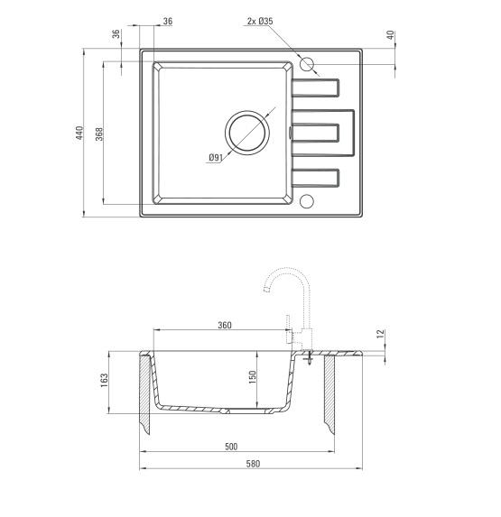 ZRL 211A Izlietne Lima specifikācija