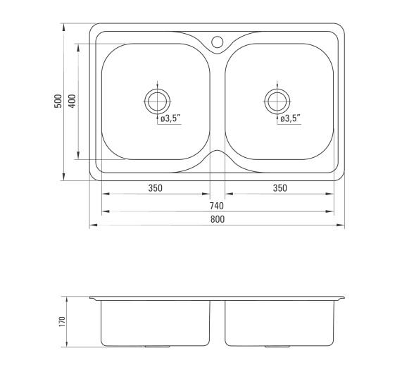 ZYU 3203 Izlietne Maredo specifikācija