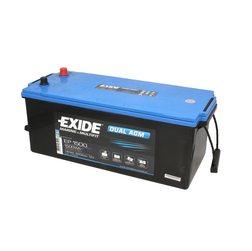 Akumulators EXIDE DUAL AGM EP1500