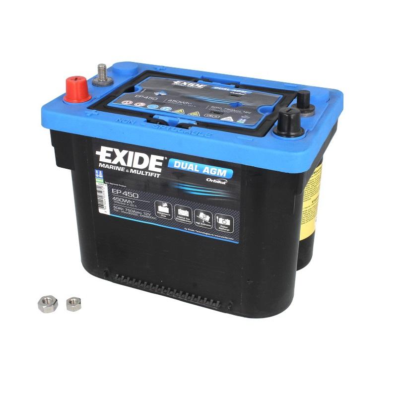Akumulators EXIDE DUAL AGM EP450