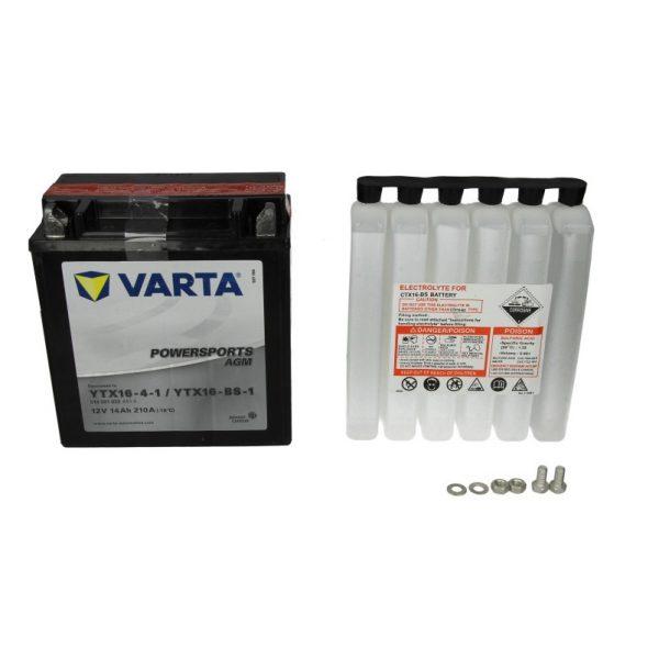 Akumulators VARTA POWERSPORTS AGM YTX16-BS-1 VARTA FUN