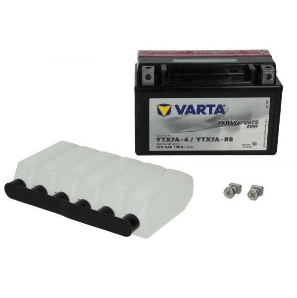 Akumulators VARTA POWERSPORTS AGM YTX7A-BS VARTA FUN