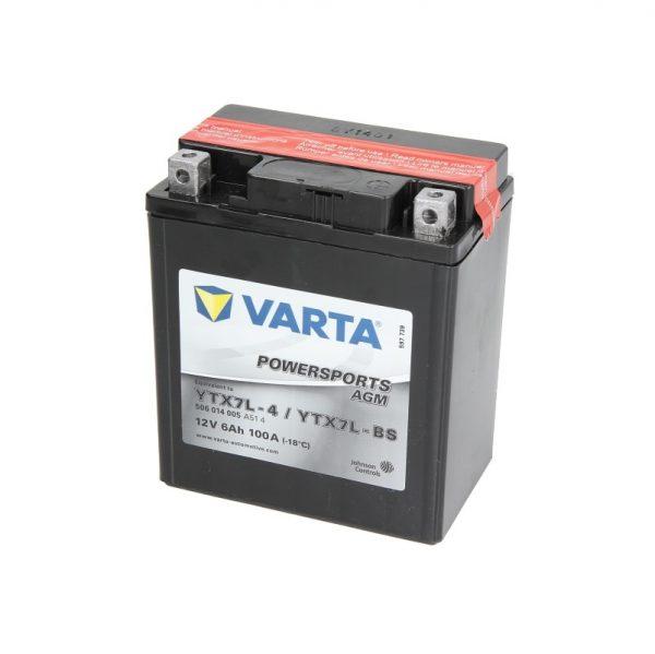 Akumulators VARTA POWERSPORTS AGM YTX7L-BS VARTA FUN